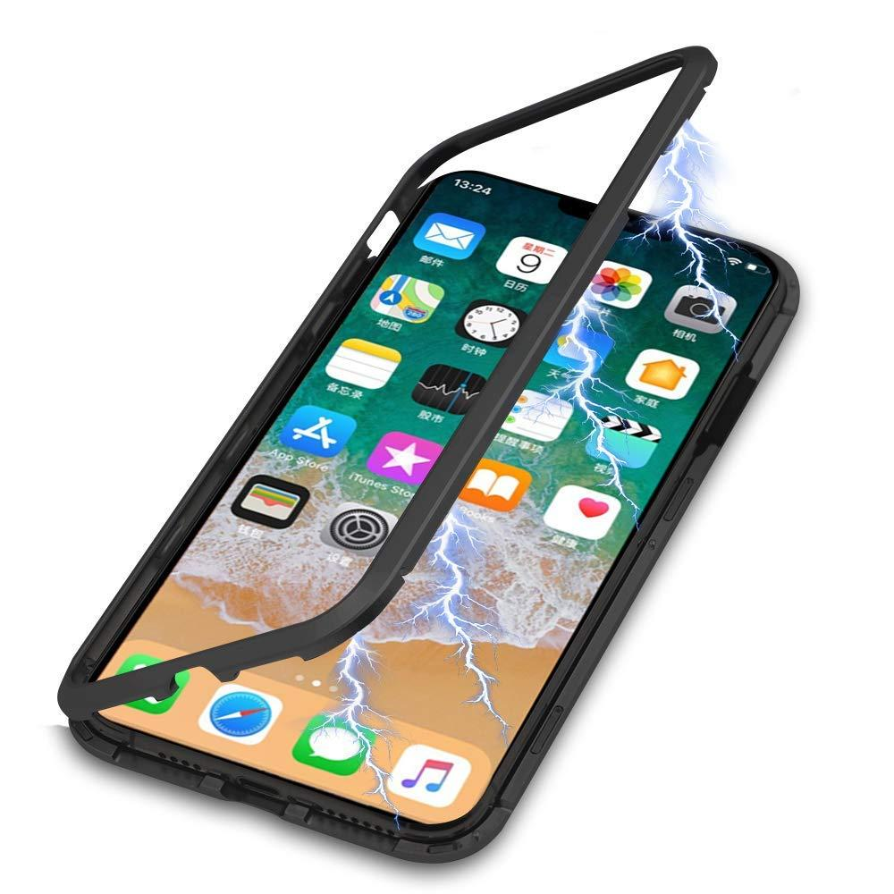pretty nice 4782c bebf7 Luxury Magnetic Adsorption Metal Case for IPhone XR