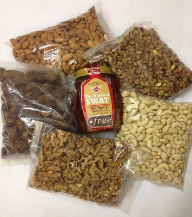 Dry Fruits Package & Honey - 1Kg