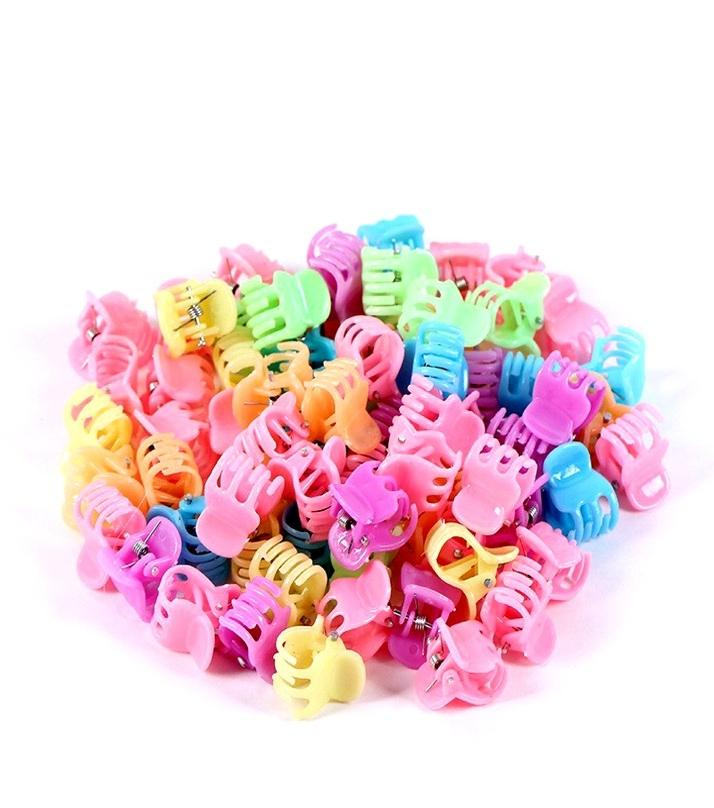 Pack of 200 - Small Hair Claws for Kids - Multicolor
