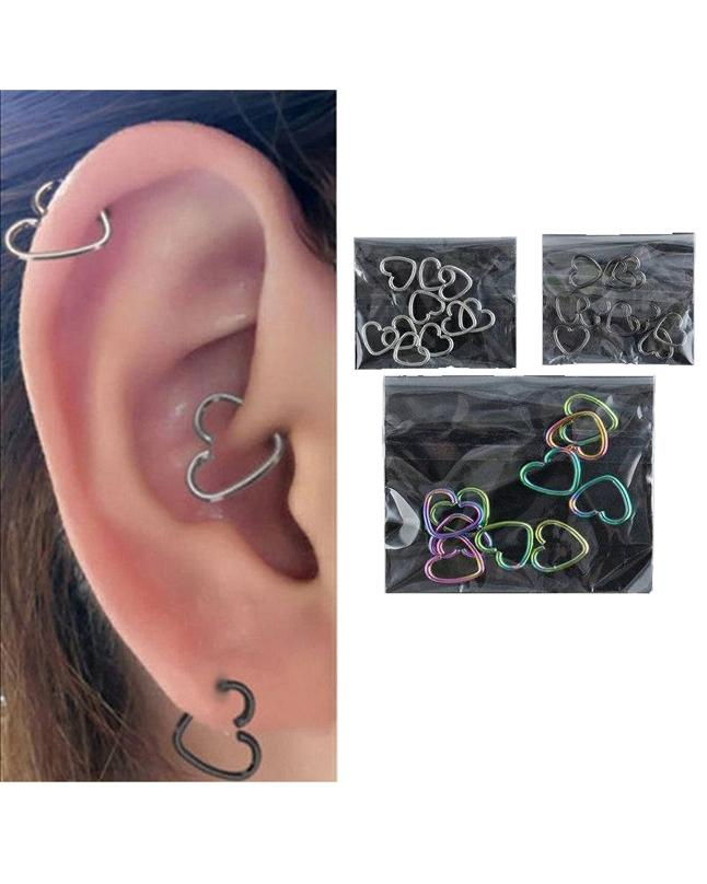 Heart Shaped Helix Cartilage Earrings