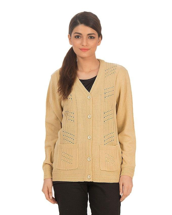 Acrylic Full Sleeves Cardigan