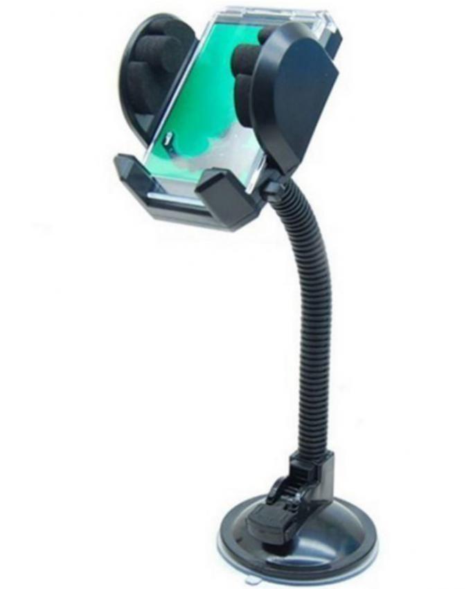 Universal Mobile Holder for Car & Desk - Black