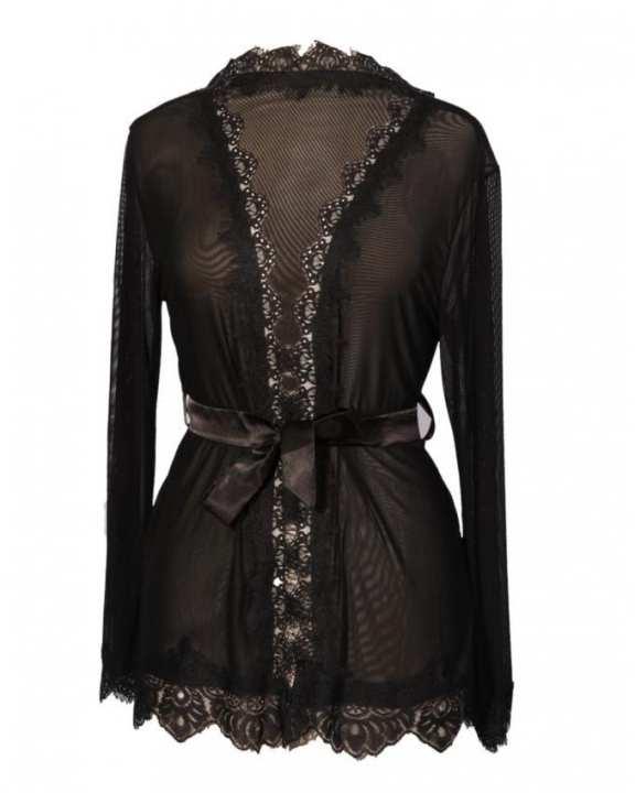 Midnight Black Spandex Short Gown For Women