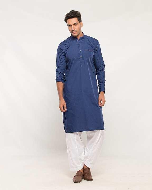 Blue Cotton Kurta for Men