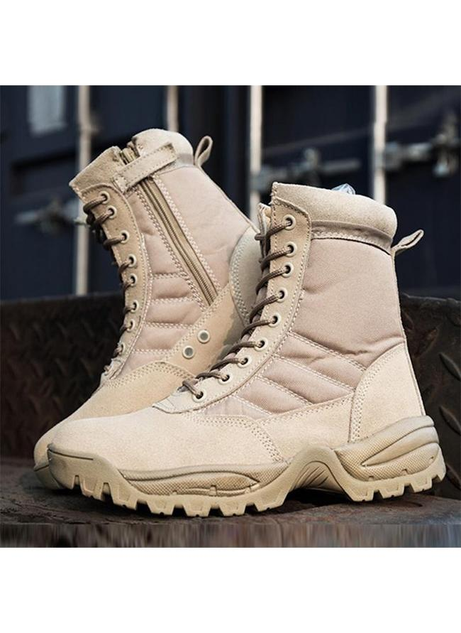 Camel Brown Swat DMS Military boots/ shoes - High ankle