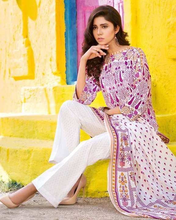 Gul Ahmed - Pink Normal Printed 3 Pcs Lawn-Unstitched -  CL-333 B-158676