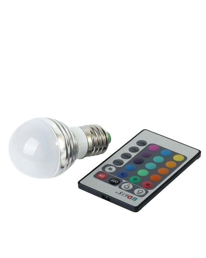 LED Colorfull Lamp With Remote - White
