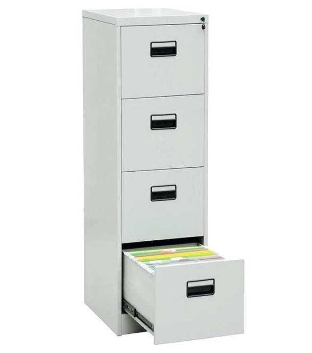 Steel File Cabinet - Silver