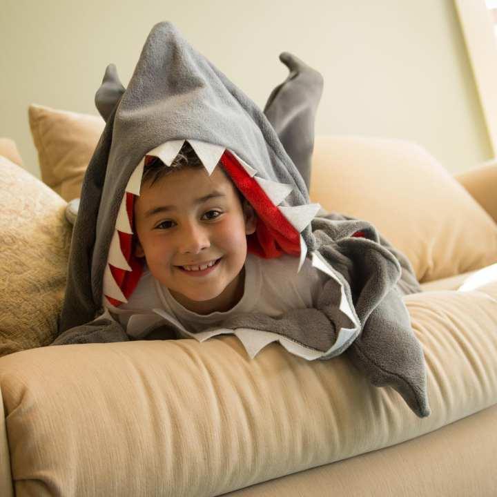 Fleece Blanket Shark Mermaid Tail Blanket Children Sleeping Sack