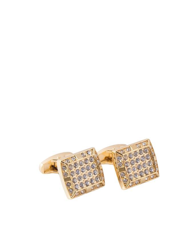 Golden Plated Cufflinks for Men - C-081
