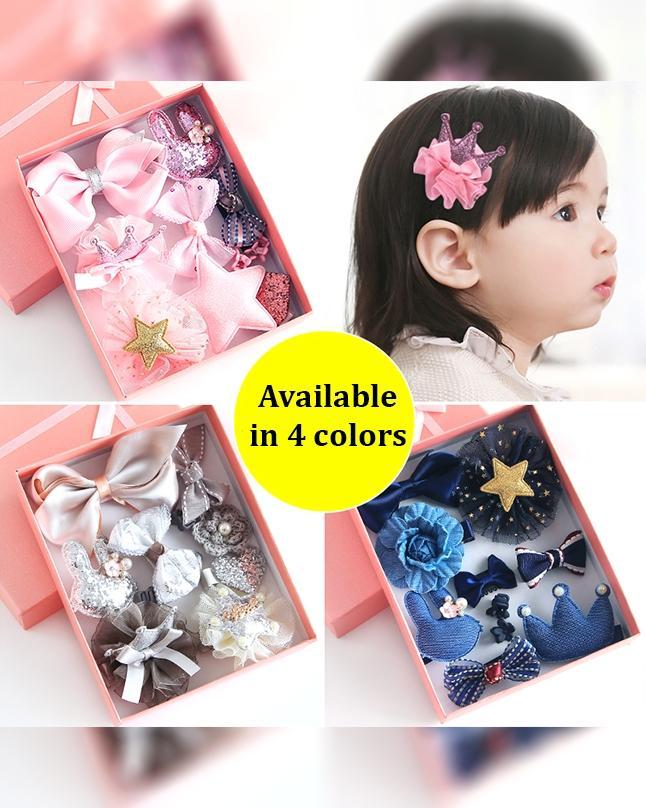 ee4bf10b5 10Pc'S Baby Girls Headwear/Hairpin Princess Set Box - 4 (Colors)