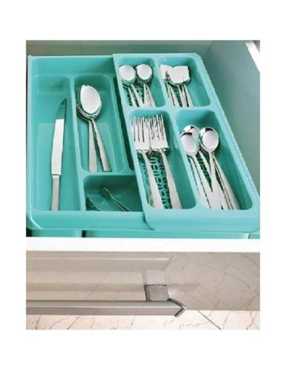 Expandable Cutlery Tray - Kitchen & Office Drawer Items Organizer