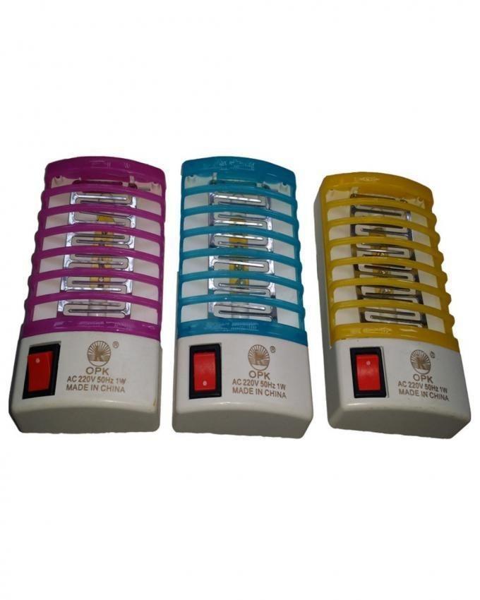 Pack of 3 - Mini Electric Mosquito Killer - Multicolor