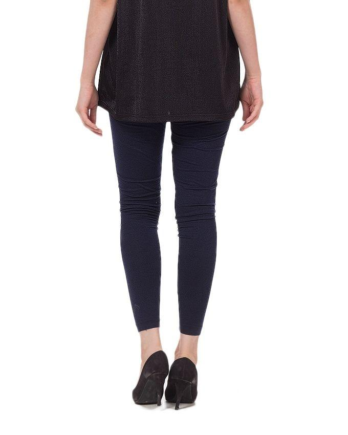 Navy Blue Cotton Tights For Women