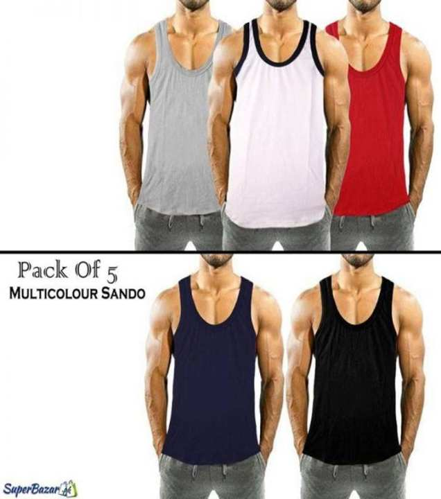 Pack Of 5 Multicolour Sando's