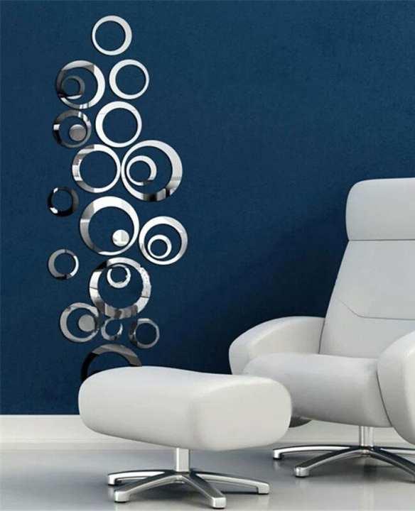 24 Pieces DIY Circle Acrylic Modern Mirror Wall Art