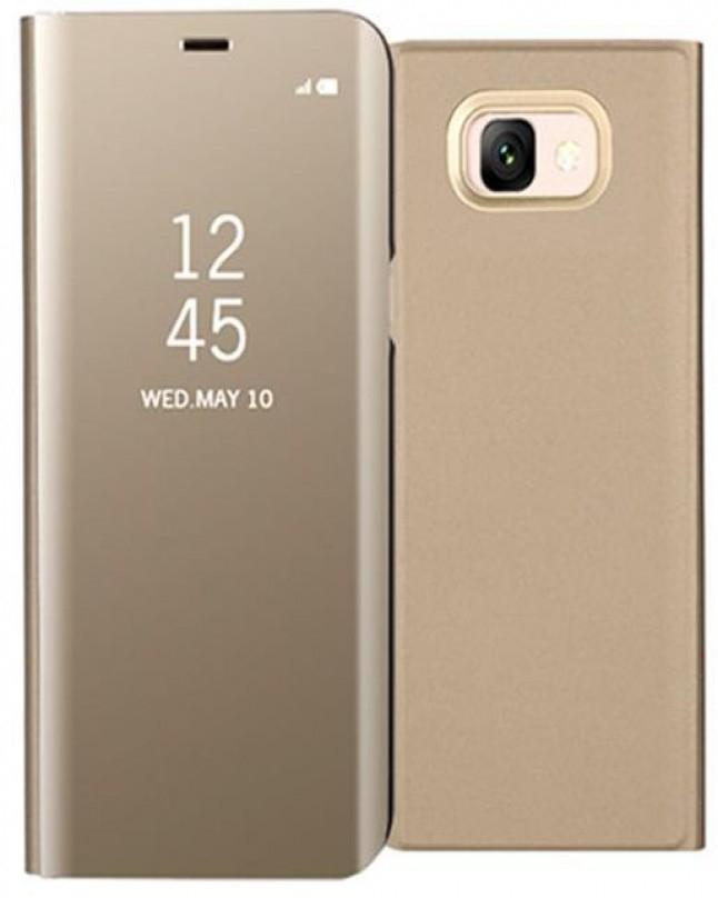 Samsung Galaxy J7 Max Clear View Standing Cover - Gold