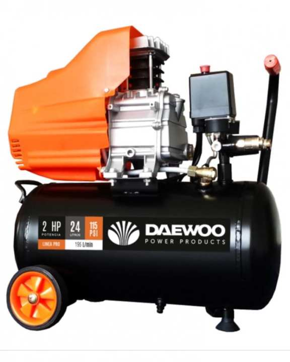 DAEWOO Air Compressor - 2 HP - 24 Litre Tank