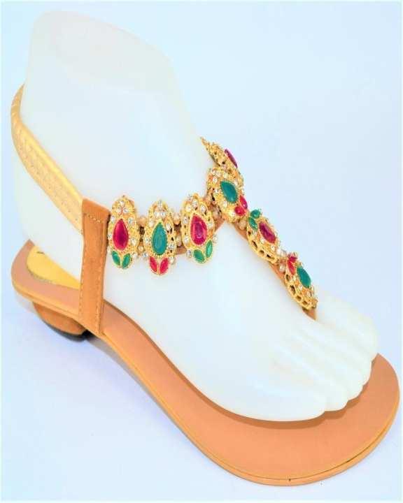 Beige Rexine Sandal for Women