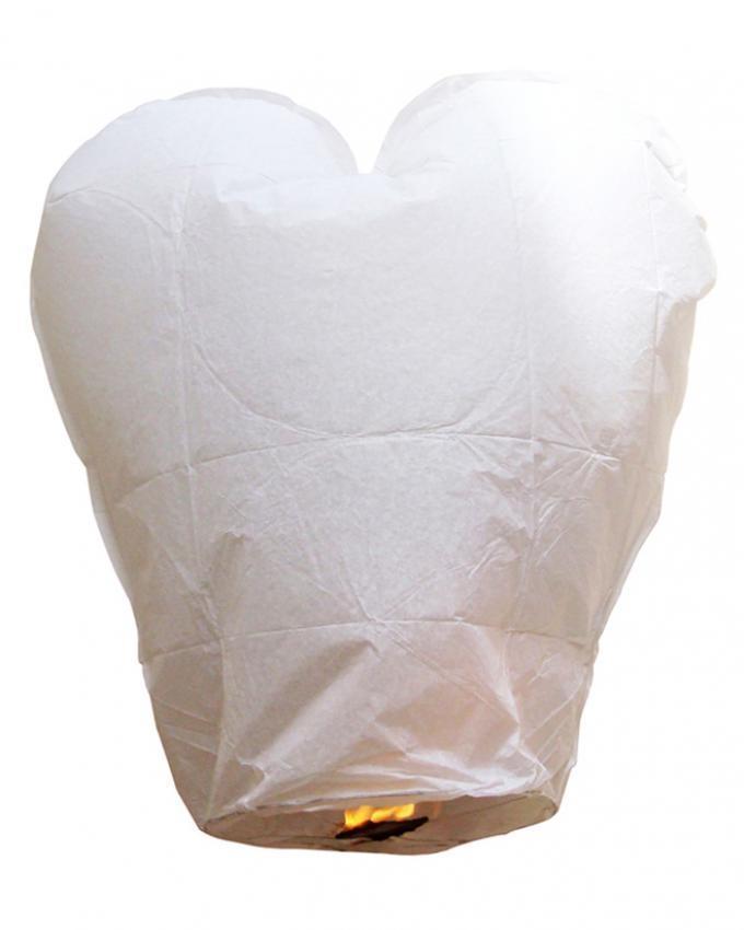 Pack Of 5 - Heart Shape Large Size Sky Lantern - Multicolor