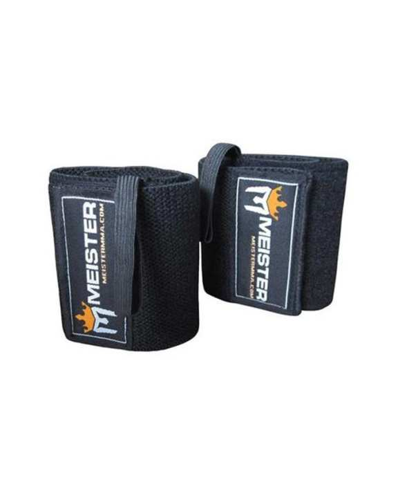 Pair of Wrist Wraps Body Building Glove - Black
