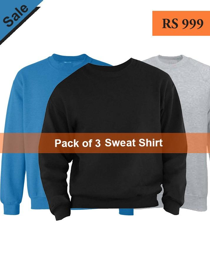 025d6960882a76 Pack of 3 Infinity Mens Sweat Shirt