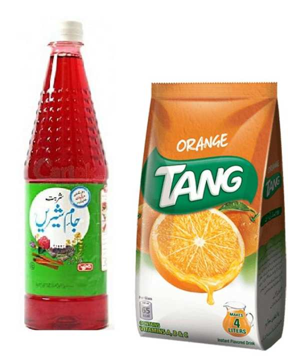 Orange 340G Pouch With Qarshi Jam E Shirin 800Ml