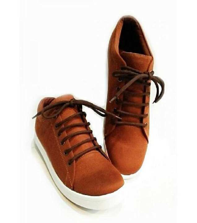 Brown Canvas Stylish Sneakers -Unisex