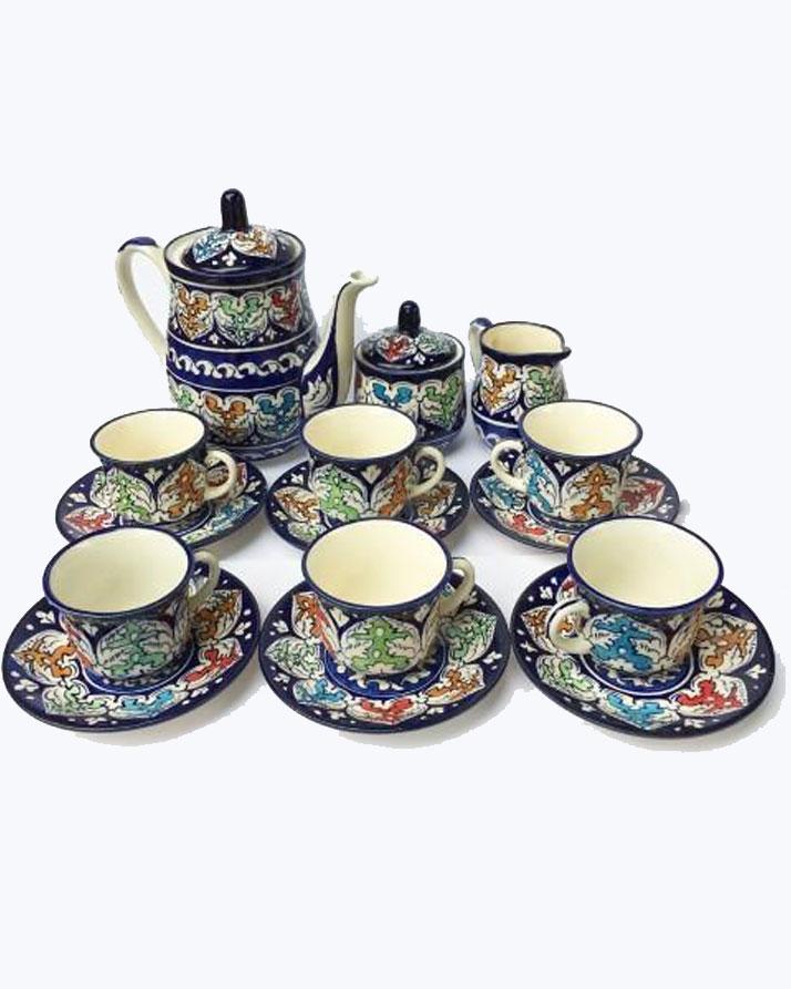 Zingeer Multicolor Tea Set - 15 Pcs