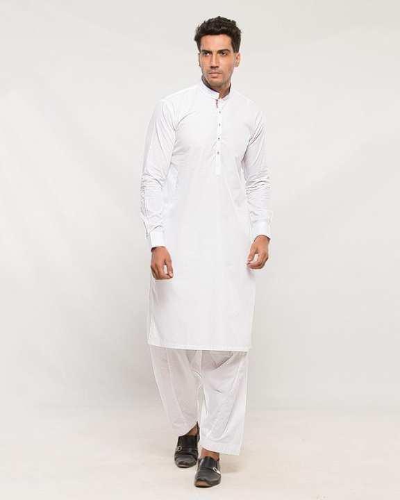 White Cotton Kurta for Men