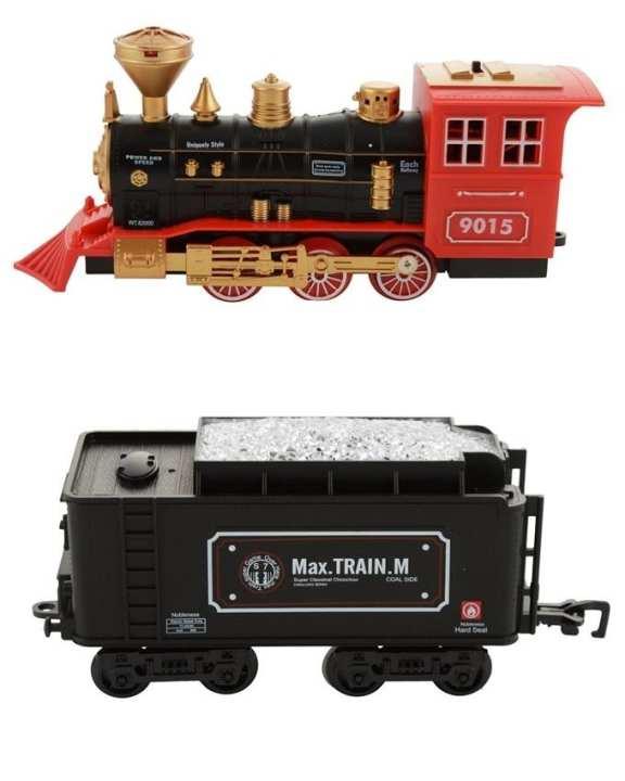 Original Rail King Train Set with Real Smoke - Multicolour