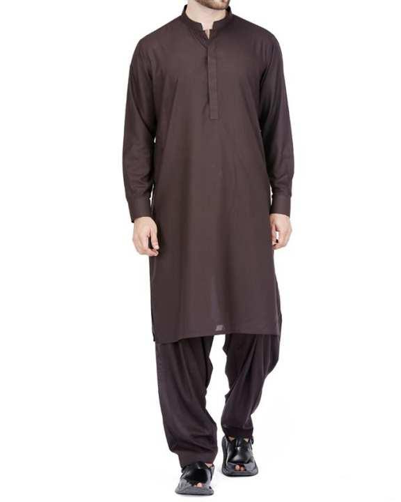 Charcoal Black P.V Regular Kameez Shalwar