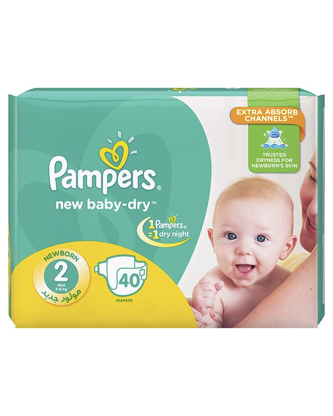 Pampers Baby Diapers Small Size 2, 40 Count