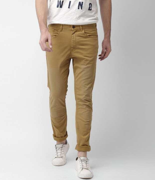 Men's Mustured Cotton Chino Twill Pants