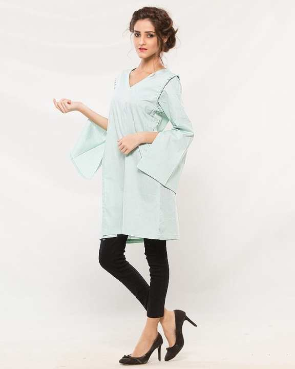BEECHTREE - Green Cotton Western Wear Shirt For Women