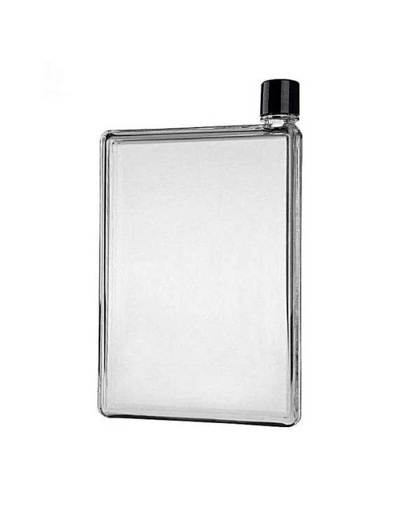Portable Flat A5 Memo Size Water Bottle - 500 Ml - Transparent