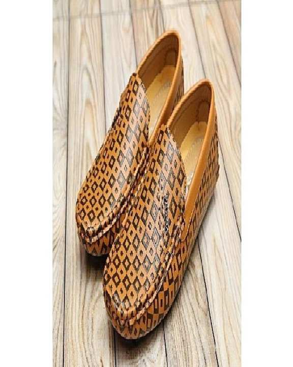 Mustard Leather Loafers For Men