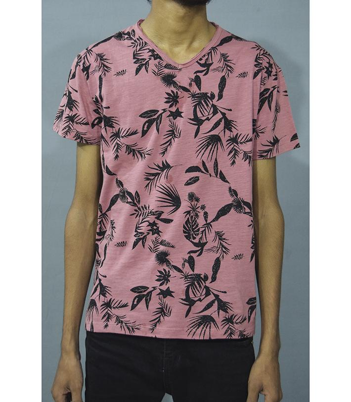 ba1e488e pink beach style graphic t-shirt