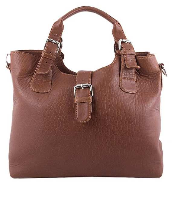 Camel Leather Handbag For Women
