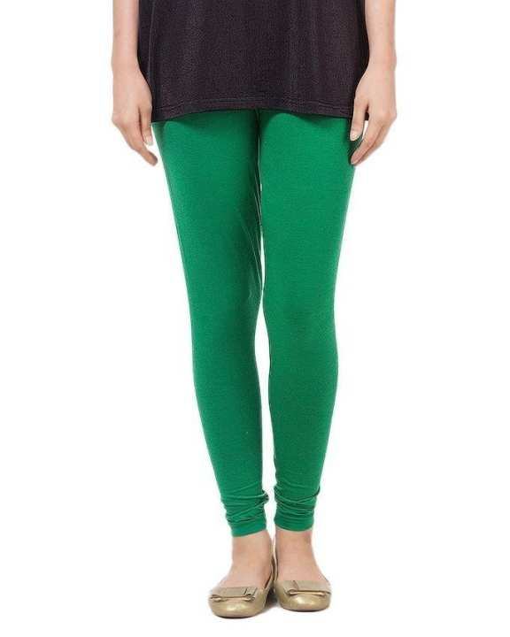 Green Cotton Tights For Women