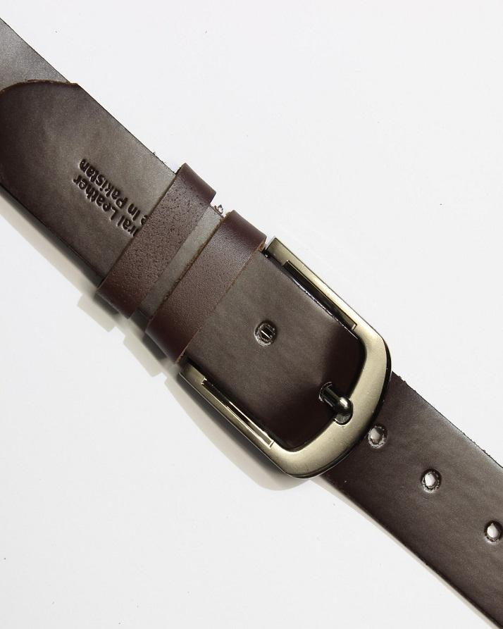 Leatherage Chocolate Brown Leather Belt