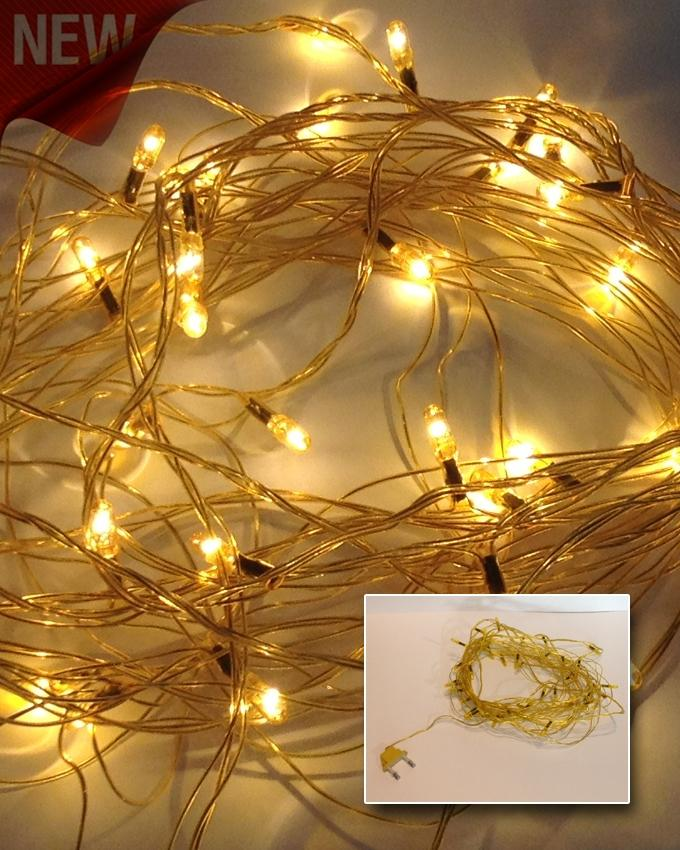 yellow led still fairy warm lights decoration 25 feet