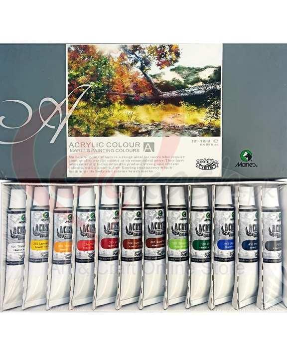 Marie'S Acrylic Color Paint Set Of 12 Pieces
