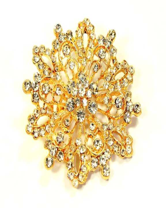 Golden Brooch With Stones