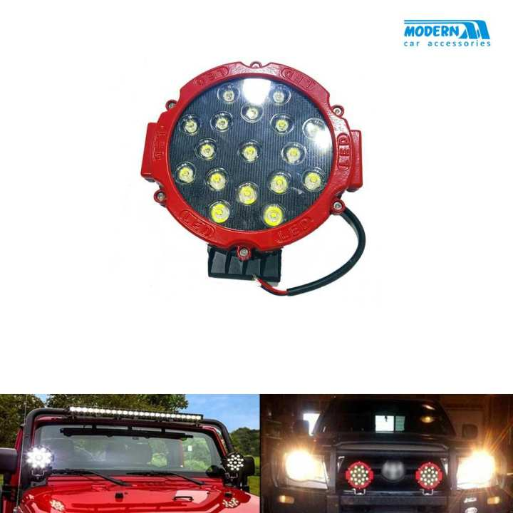 Round LED Spot Beam Pair For Jeep Safe Guard Small - Pair