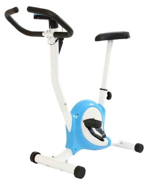 Cardio Workout Indoor Exercise Bike - Digital Belt - White And Blue