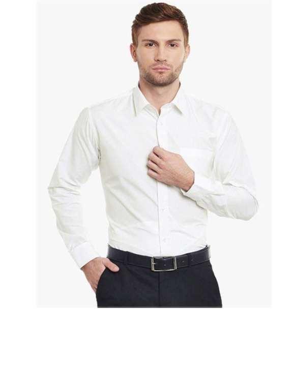 White Cotton Formal Shirt