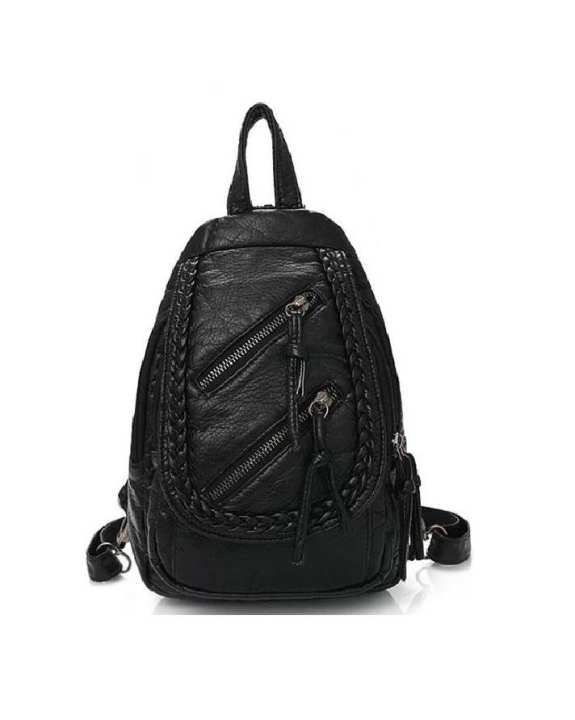 Synthetic Leather Women Fashion Backpack