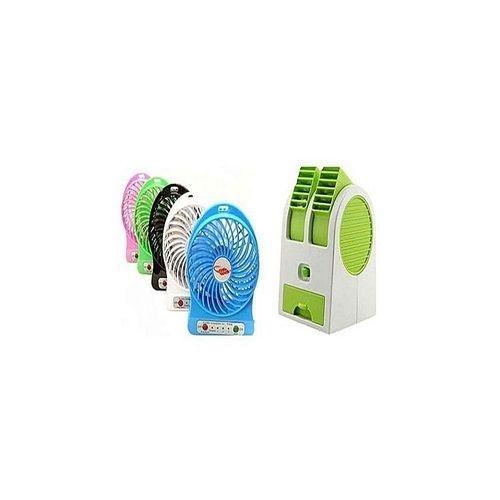SM Mart Deals 2 in 1 Deal - Mini Cooler Fan & Mini Rechargeable Fan