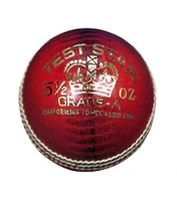Test Star Cricket Ball - Red